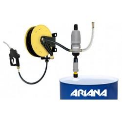 Systeme de bobine de tuyau avec buse