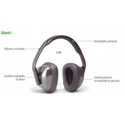 Auriculares SILENT I: 30dB. Confort. Arnés regulable