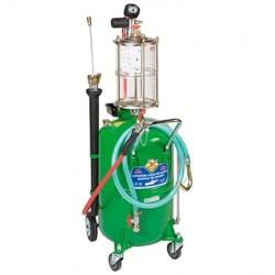 Aspirador de aceite usado con precámera transparente con depósito con carro de 65 litros