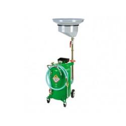 Recuperador aceite usado con bandeja lateral y depósito con carro de 65 l.