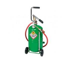 Distribuidor de aceite manual con depósito a carro de 24 litros